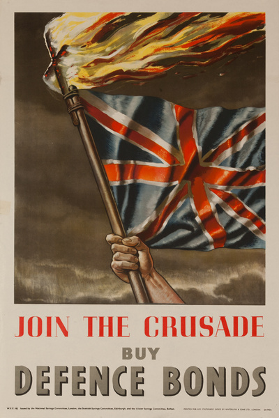 Join the Crusade, Buy Defence Bonds, Original British WWII Poster