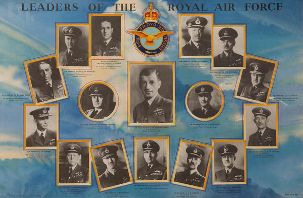 Leaders of the Royal Air Force, Original British WWII Poster