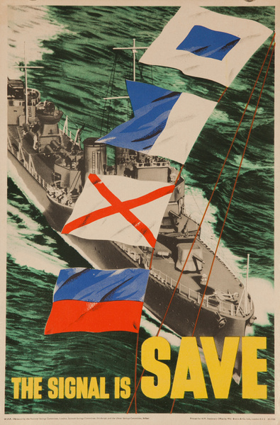 The Signal is Save, Original British WWII Poster