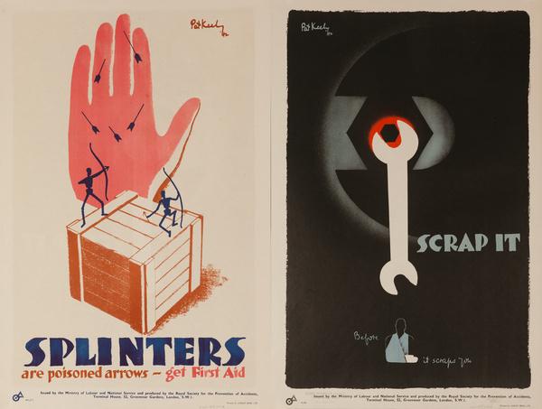 Splinters are Poison Arrows / Scrap It, Original British WWII Poster