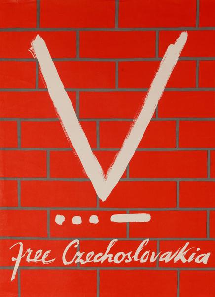 Free Czechoslovakia, Original American WWII Poster