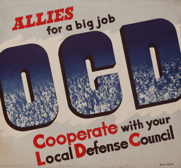 Allies for a Big Job. OCD, Original American WWII Poster
