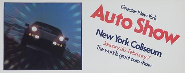 Greater New York Auto Show Subway Card Advertising Poster