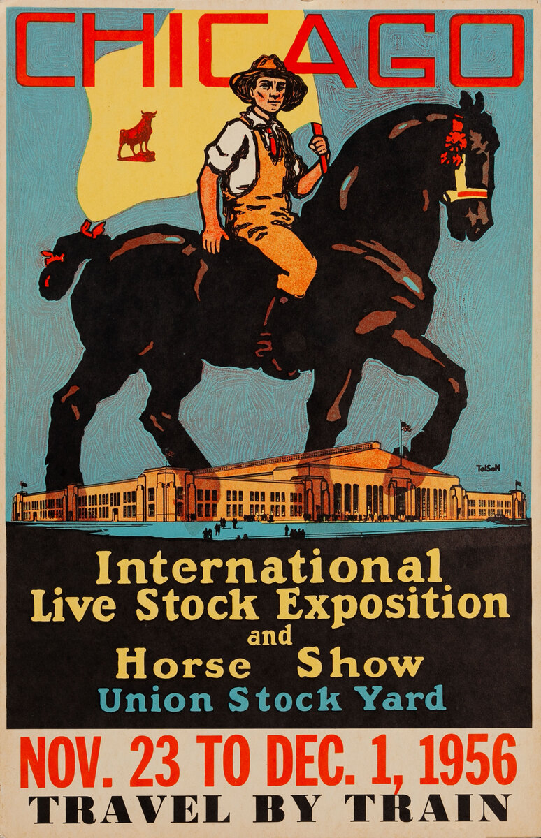 1927 Chicago International Live Stock Exposition Original Poster