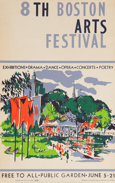 8th Boston Arts Festival Original Poster