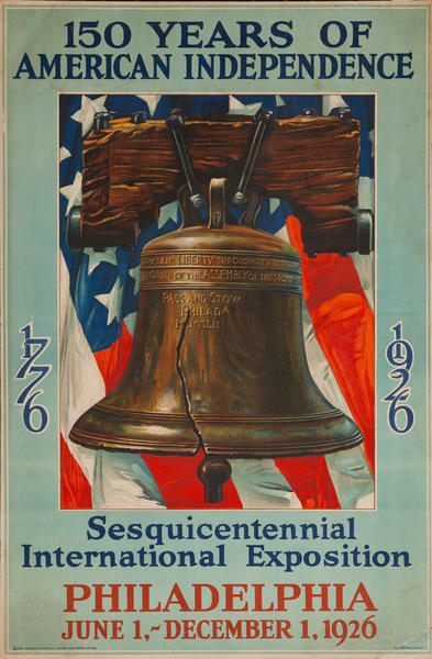 150 Years if American Independence, 1776-1926 Philapelphia Sesquicentennial Poster, Liberty Bell