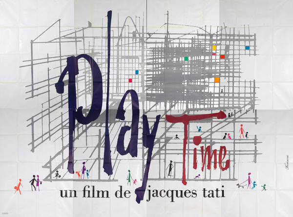 Play Time un film de jacques tati, Original French Movie Poster
