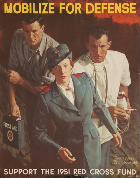 Mobilize for Defense, Support the 1951 Red Cross Fund