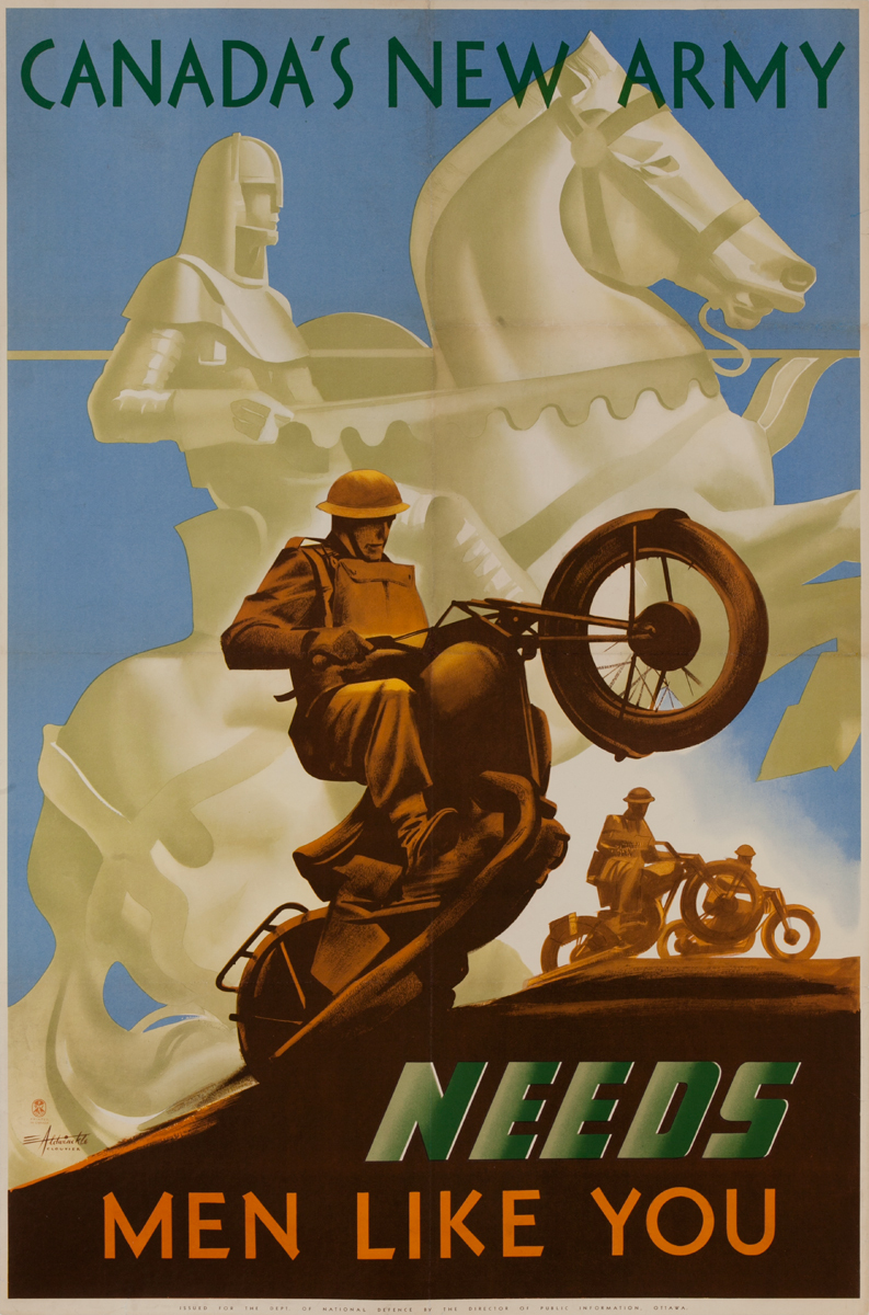 Canada's New Army Needs Men Like You, Original Canadian WWII Poster