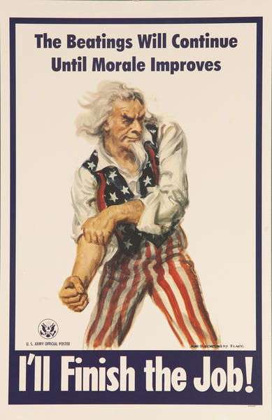I'll Finish the Job! Original WWII Morale Poster Uncle Sam