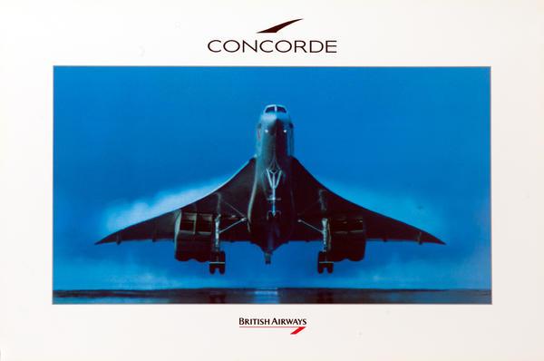 British Airways Concorde Landing, color