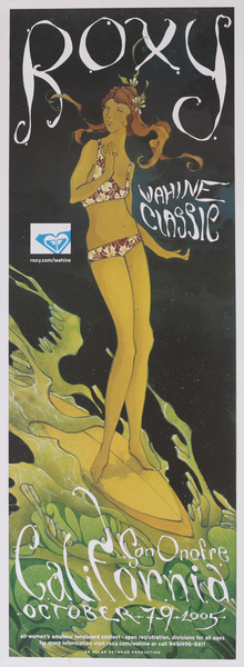 Roxy Wahine Classic San Onofre Women's Surfing Contest Poster