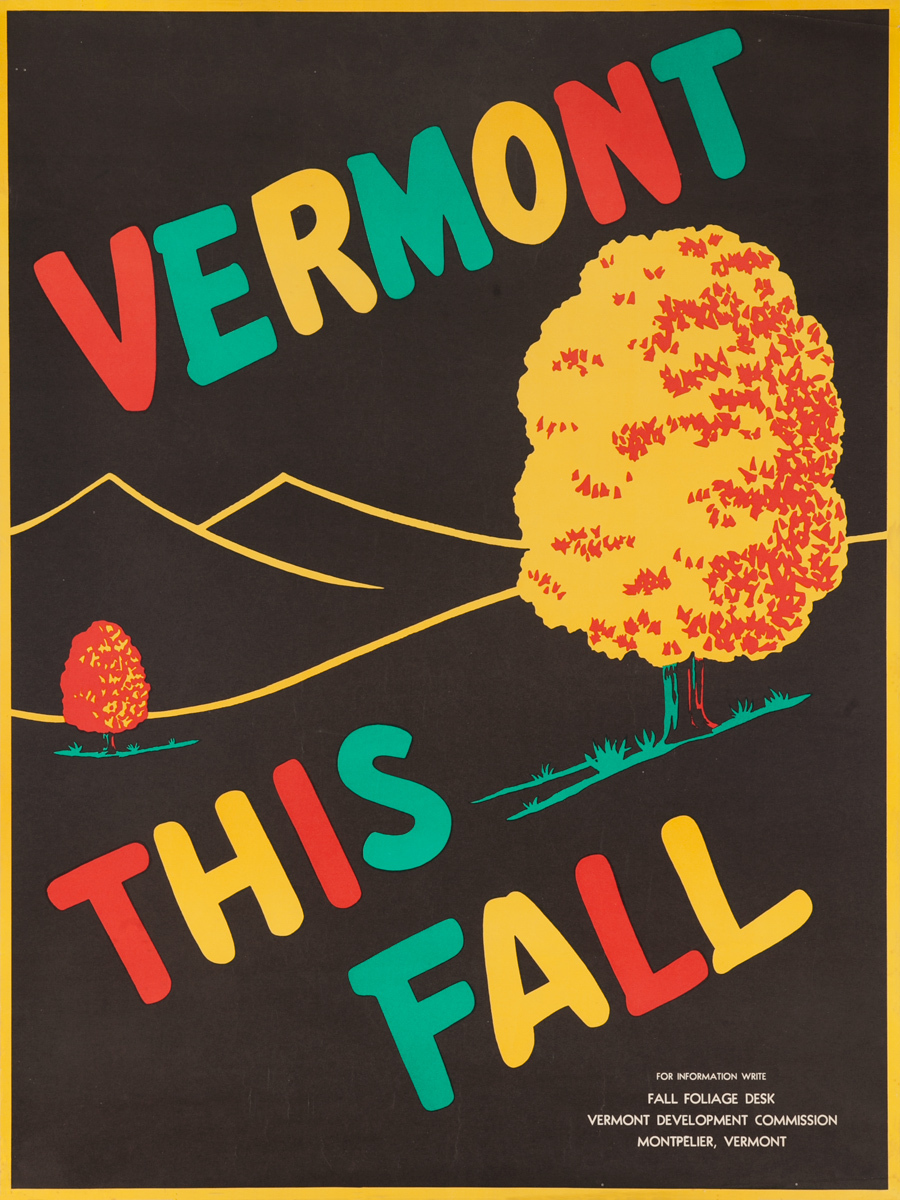 Vermont This Fall, Original American Travel Poster