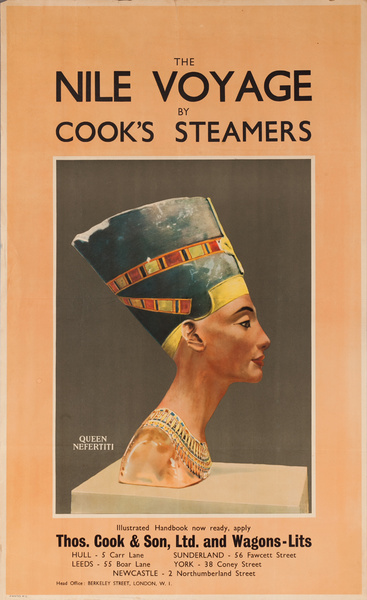 Cook's Steamers Nile Voyage Travel Poster (Thos. Cook & Son, Ltd. and Wagon-Lits