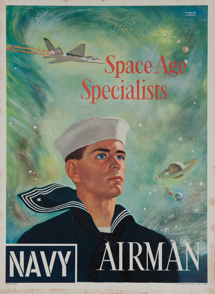 Space Age Specialists, Navy Airman, Original American Recruiting Poster