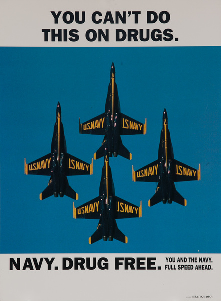 You Can't Do This On Drugs, Navy, Drug Free, Original American Recruiting Poster