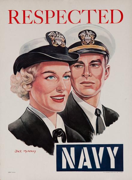 Respected, Navy Original American Recruiting Poster