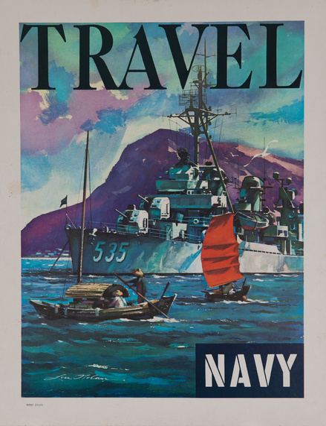 Travel, NAVY, Original American Recruiting Poster