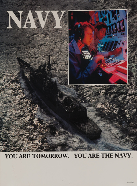 You are Tomorrow, You are Navy Original American Recruiting Poster