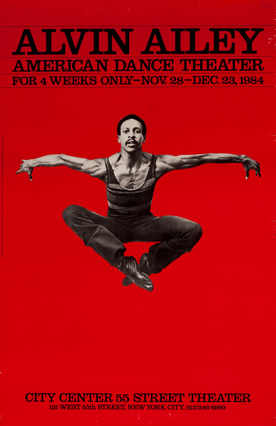 Alvin Ailey American Dance Theater Original Poster, Dudley Williams