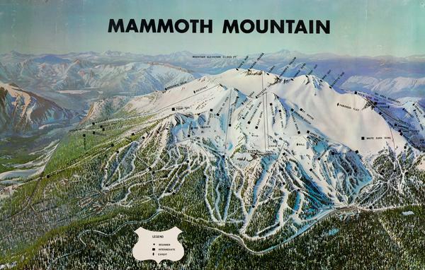 Mammoth Mountain, Ski Trail Original American Poster