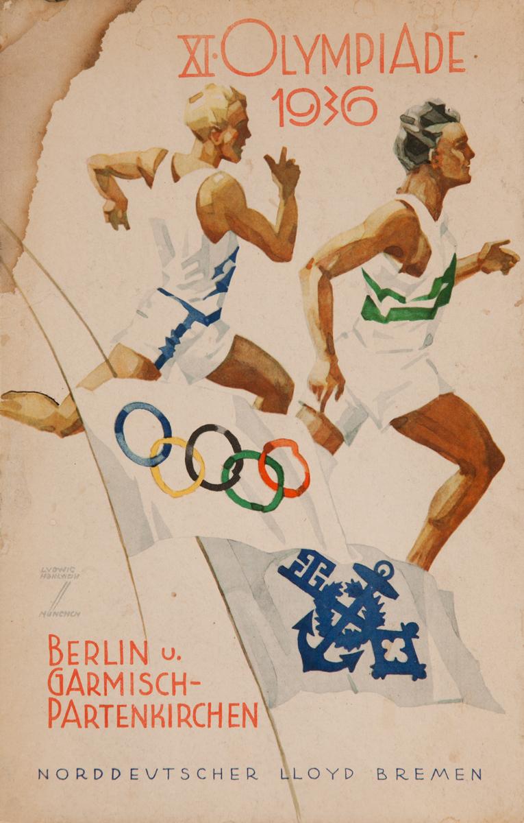 1936 Berlin Olympics Crusie Menu, Norddeutcher LLoyd Bremen