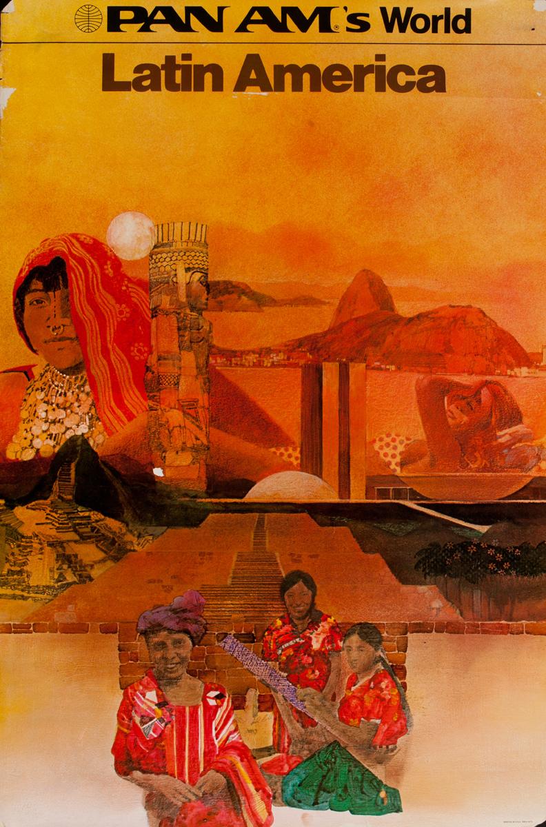 Pan Am's World Latin America Original Travel Poster
