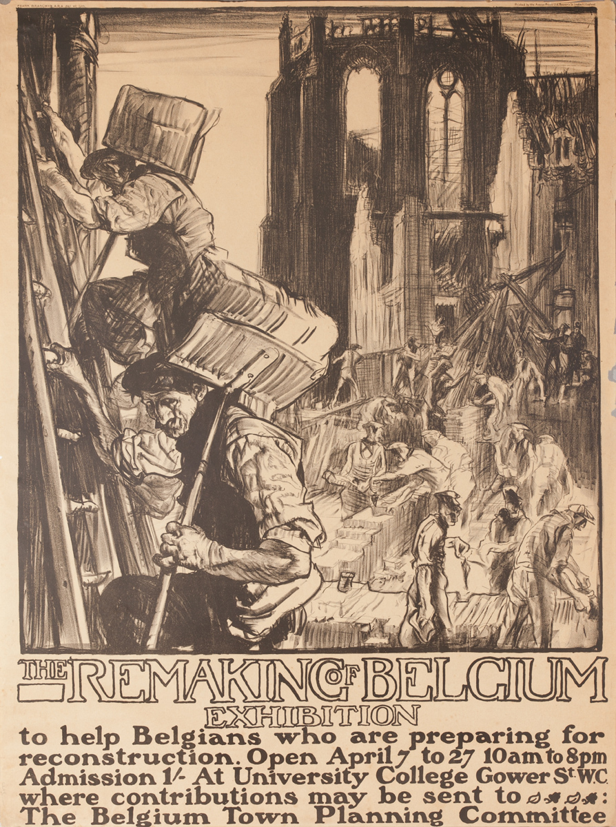 The Remaking of Belgium Exhibition Original WWI Poster
