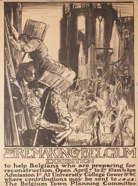 The Remaking of Belgium Exhibition Original WWI Poster
