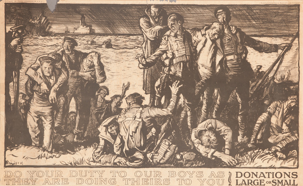 Do Your Duty to Our Boys As They are Doing Theirs To You, Original British WWI  Poster