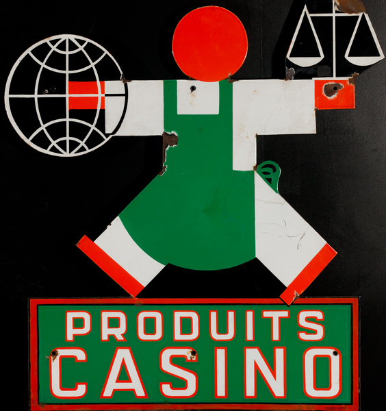 Produits Casino Original French Enamel Sign right