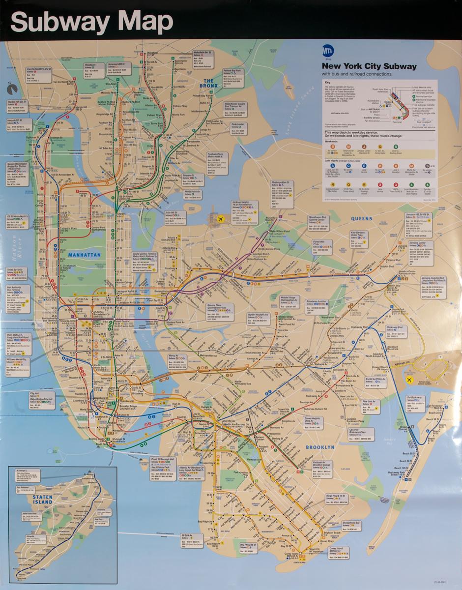 Original New York City Subway Map