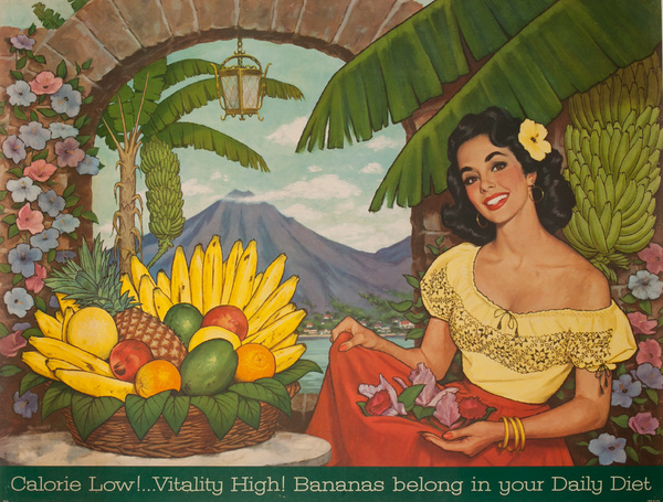 Calories Low!.. Vitality High! Bananas belong in your Daily Diet, Original Advertising Poster