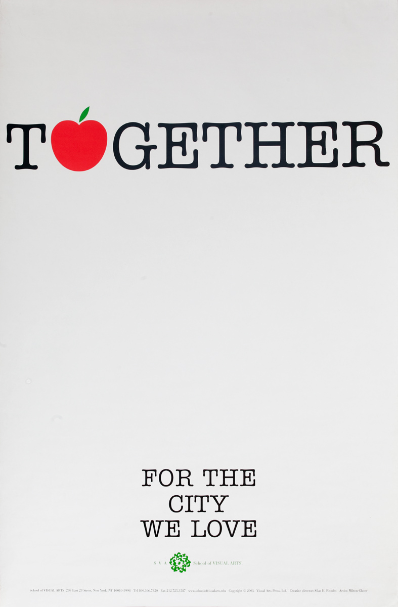 Together, For the City We Love, Original School of Visual Arts New York Poster