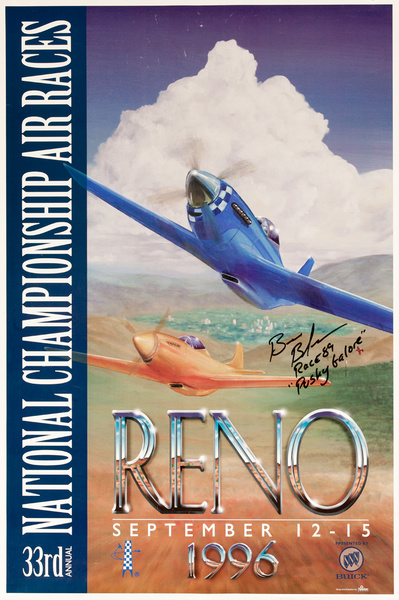 33 National Championship Air Races Reno, 1996 Original Poster