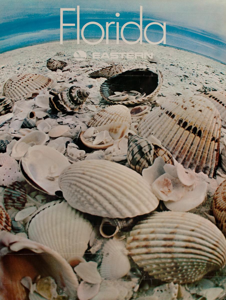Florida, Eastern, Original Eastern Airlines Travel Poster, seashells