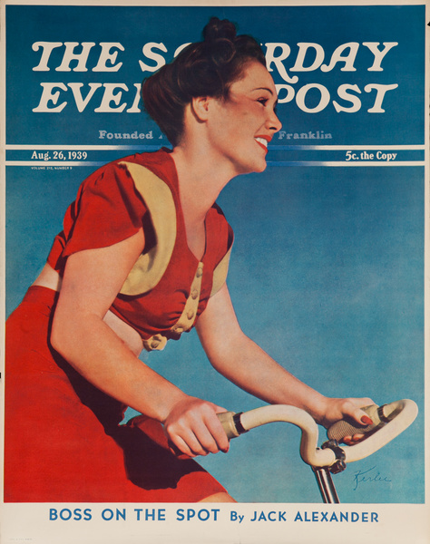 The Saturday Evening Post Advertising Poster Aug 26, 1939