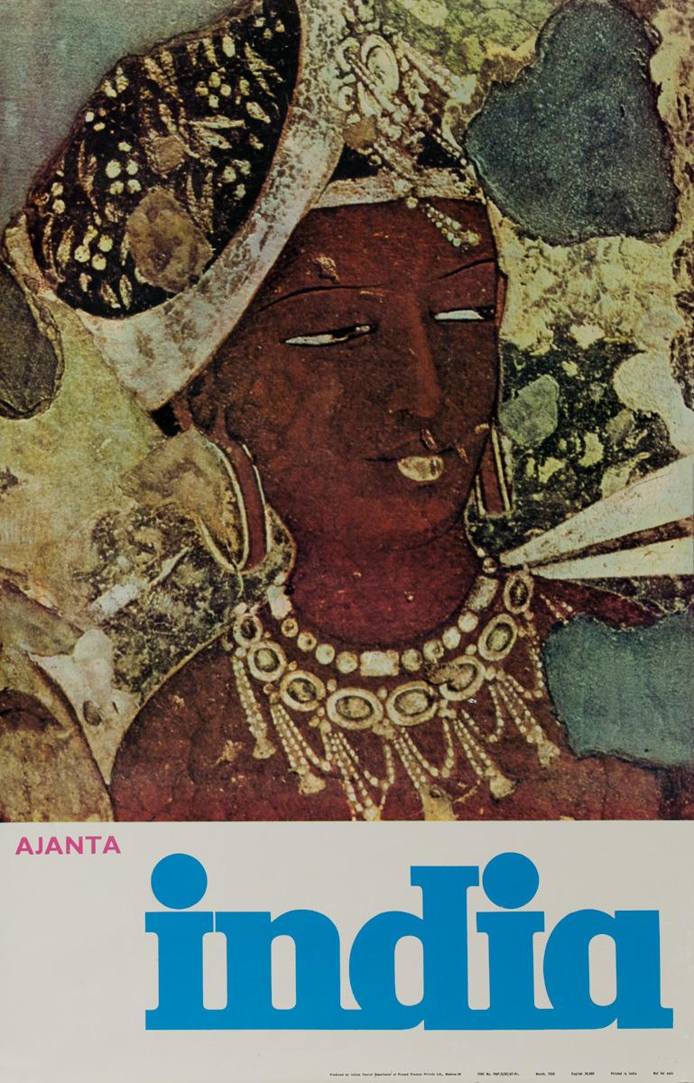 Ajanta India Original Travel Poster