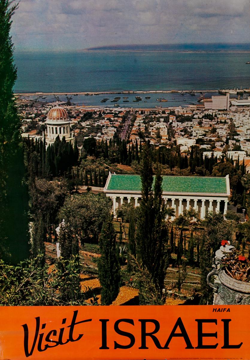 Visit Israle, Haifa, Original Travel Poster