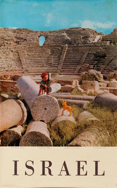 Israel, Roman Theatre, Caesarea Original Travel Poster