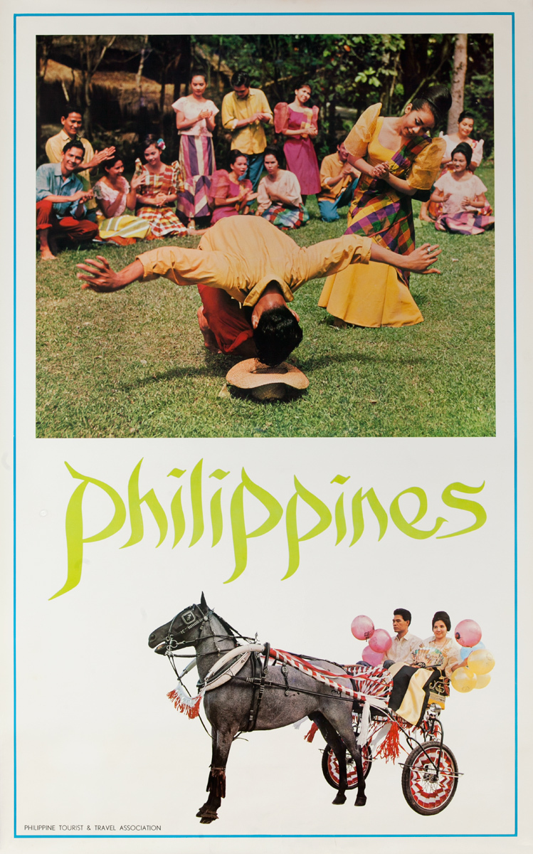 Philippines Travel Poster, dance troupe
