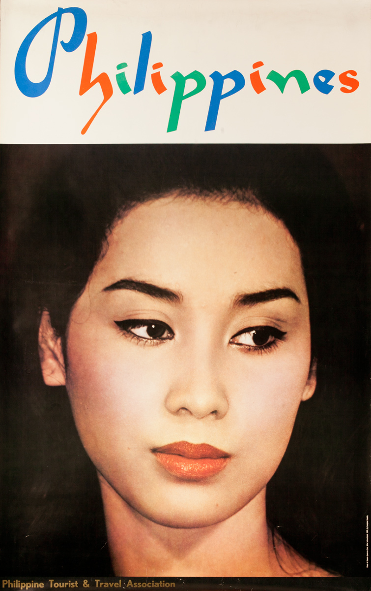 Philippines Travel Poster, Woman's Face