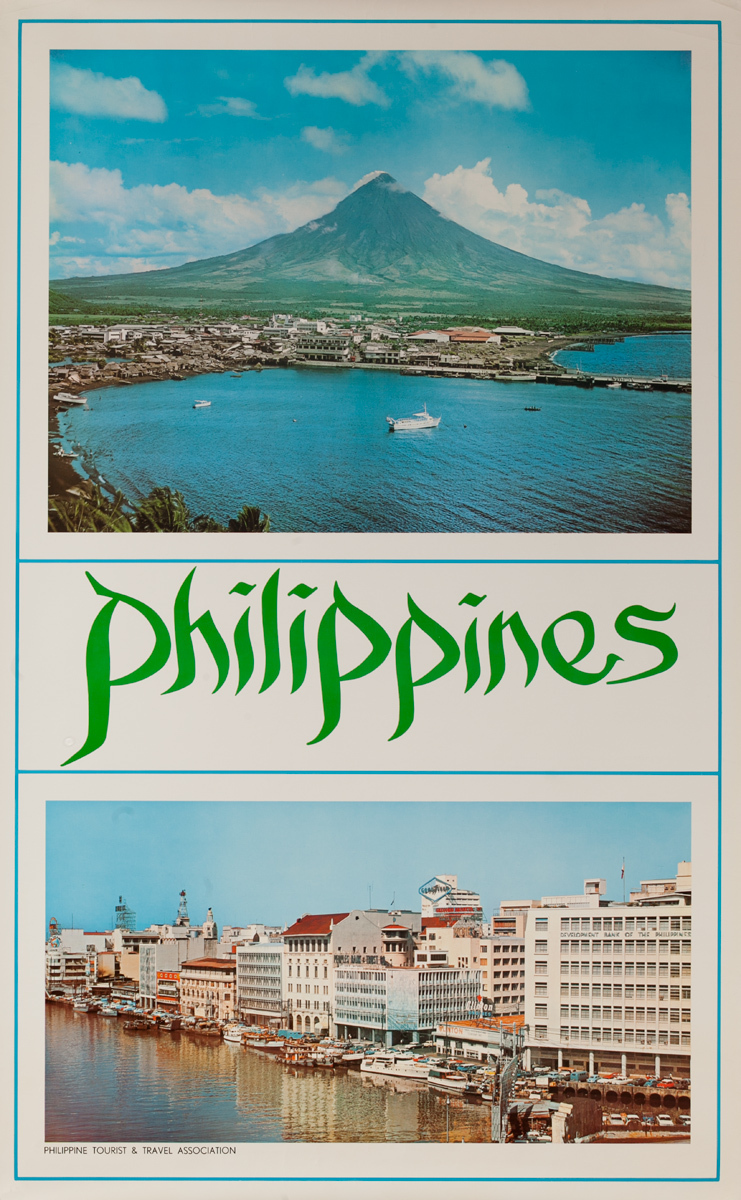 Philippines Travel Poster, Mountain