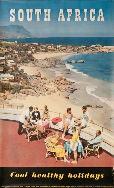 South Africa, Cool Healthy Holidays, Original Travel Poster