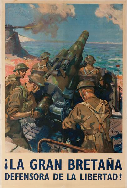 La Gran Bretaña, Defensora de la Libertad, coastal artillery
