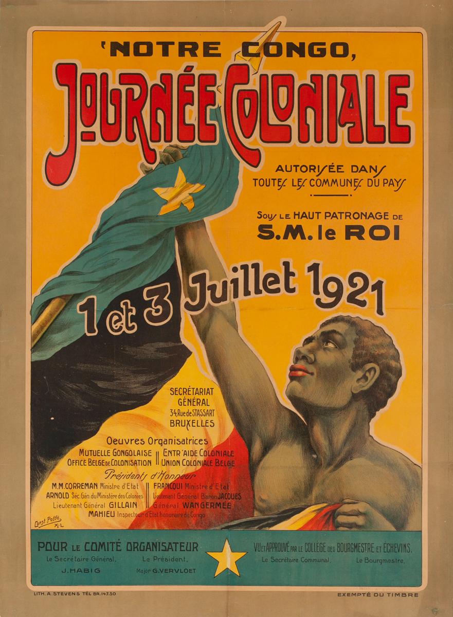 Notre Congo Journee Coloniale Original African Travel Poster