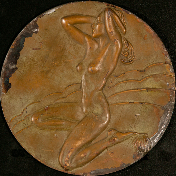 Art Deco Plaque, Nude