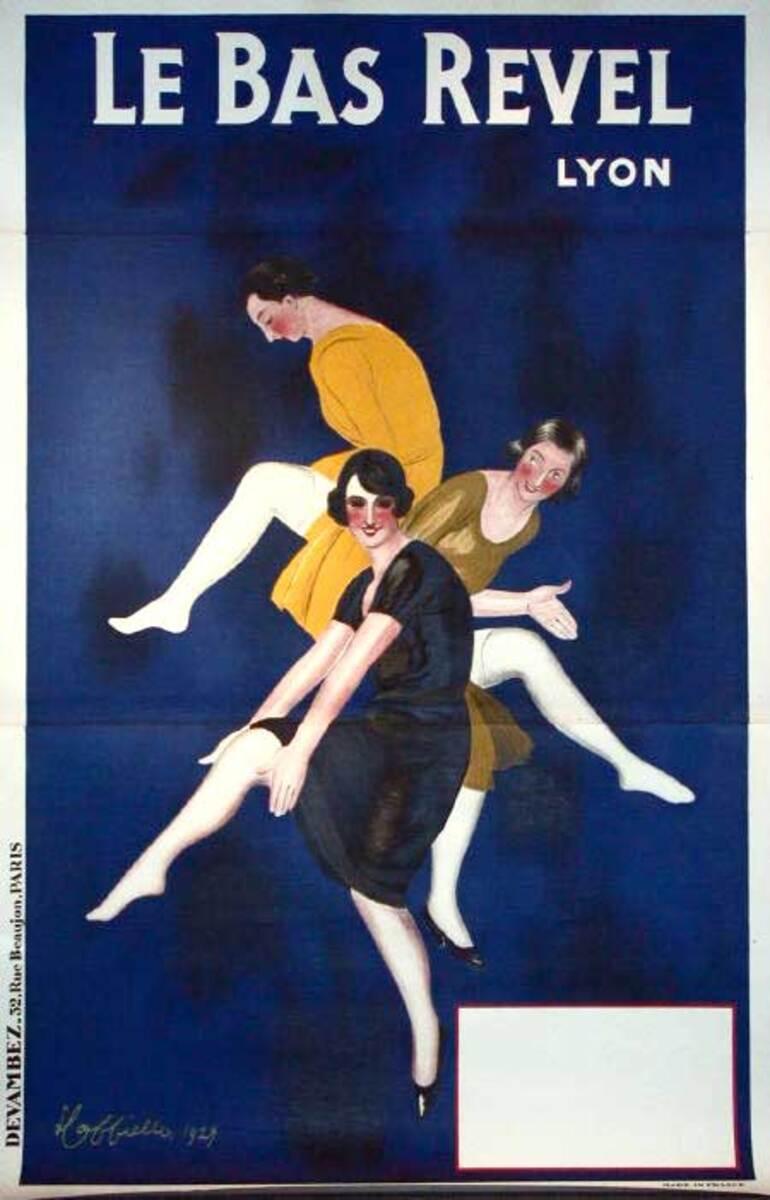 Bas Revel Original Vintage Advertising Poster