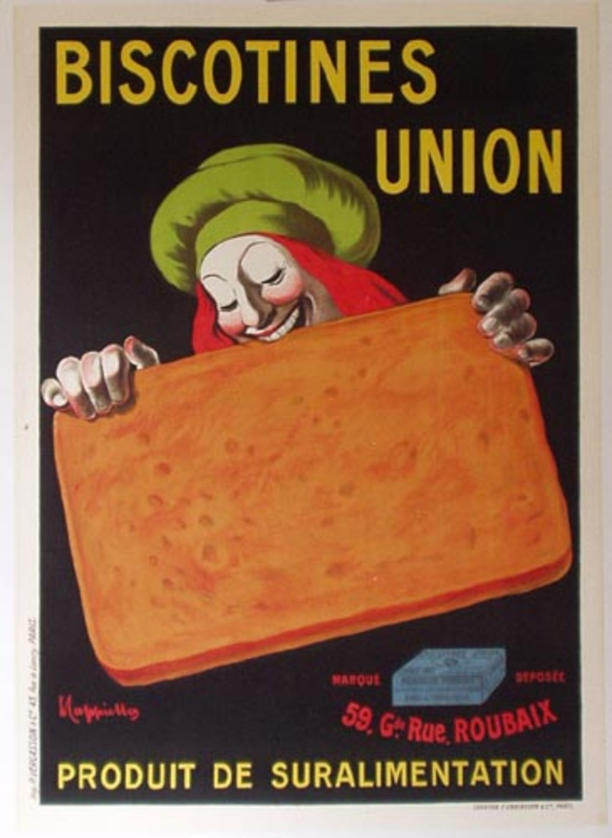 Biscotines Union Original Vintage Advertising Poster