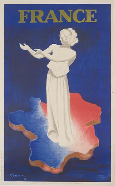 France Original Travel Advertising Poster